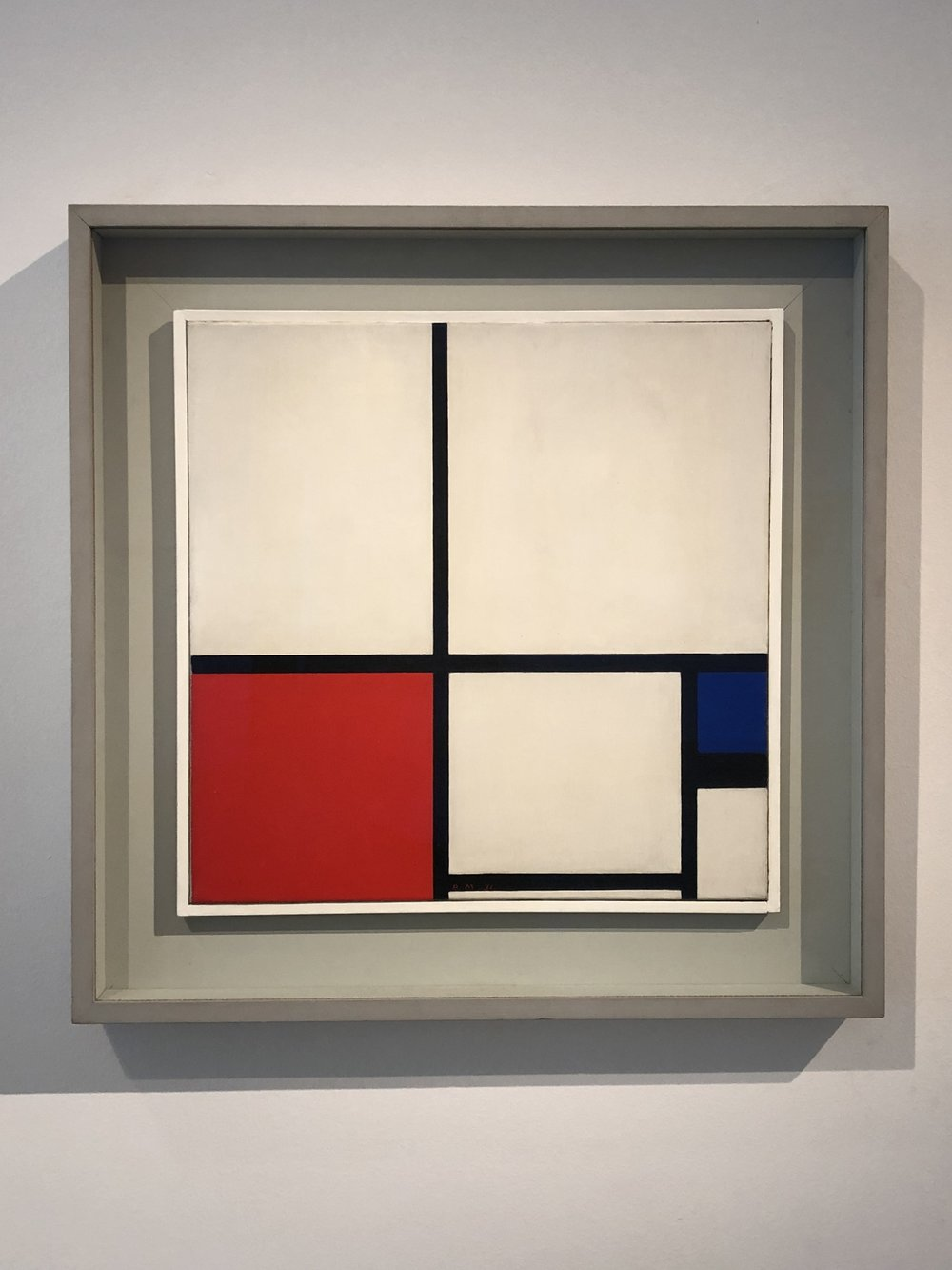 Piet Mondrian  Composition in Colours/ Composition No. 1 with Red and Blue, 1931