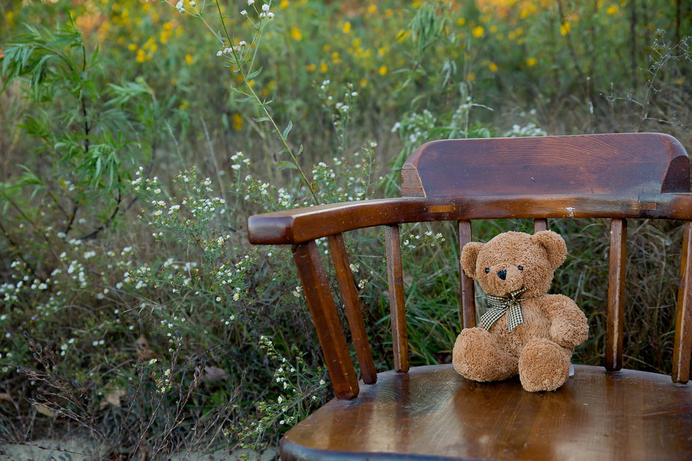 I am so proud of this one! Katelyn and I took it together. This was her dad's bear when he was a child. <3