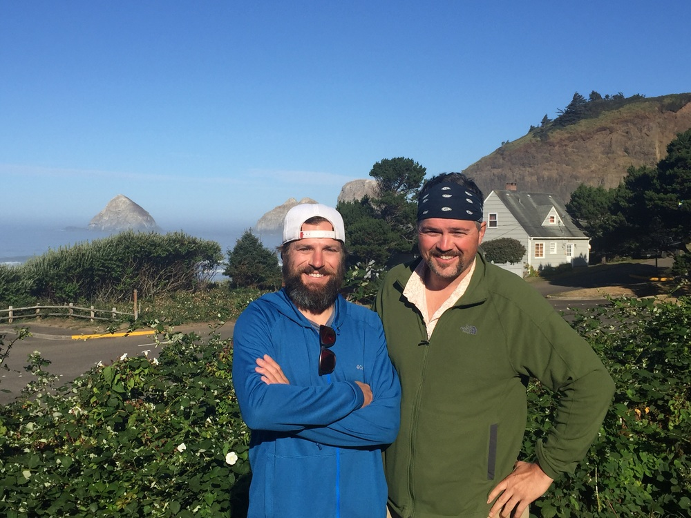 Child hood friend - Mike Kuchar - showed up for my finish....he randomly was vacationing with his family 15 miles away!