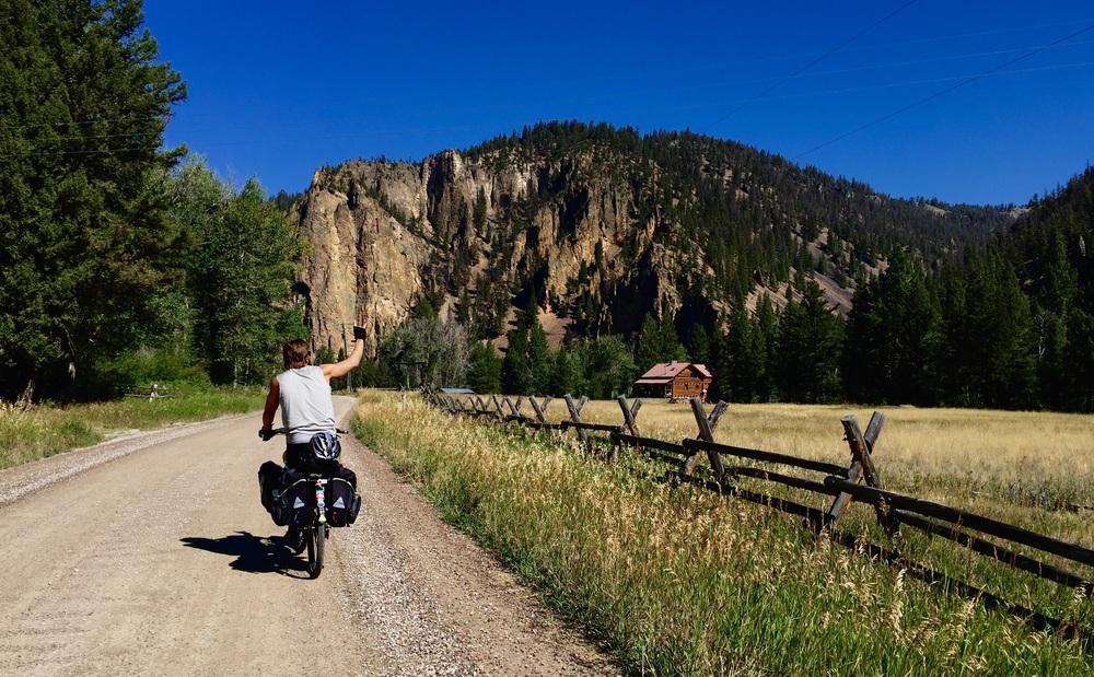 Rock creek trail road south of Missoula Montana.