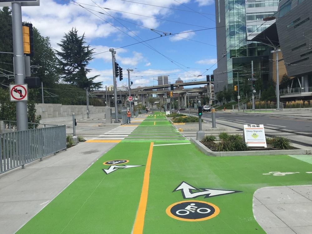 Biker and walker specific lanes