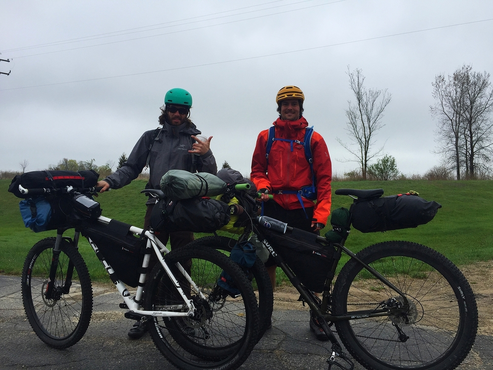 Alex & Brian heading out to Kalamazoo with their fully loaded Continental Divide rigs