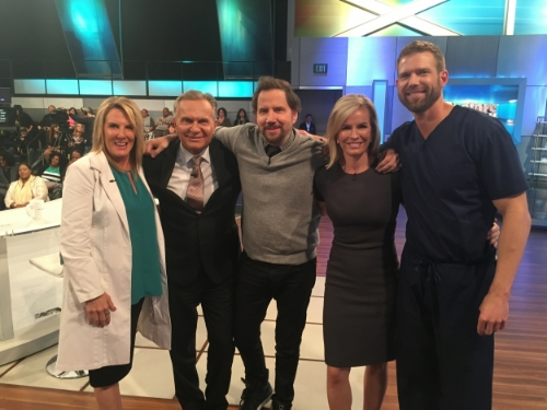 "Jamie on ""The Doctors"" with Dr. Kathy Magliato (far left)"