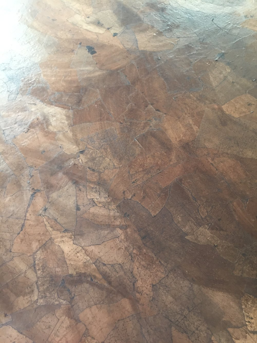 Once Dry the floors looked copper! -