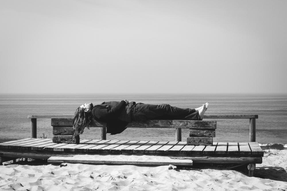 """Jesse Hurlbut, Damien Jurado band.   Biarritz, FR  . 2012.   18""""x12"""" mounted print   $100"""