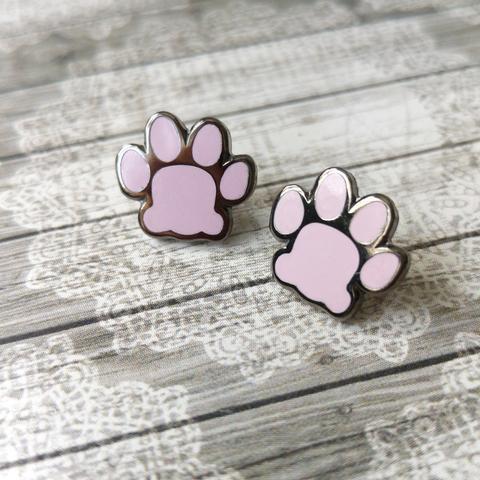 Kitty Pawprint Pair Of Lapel Pins