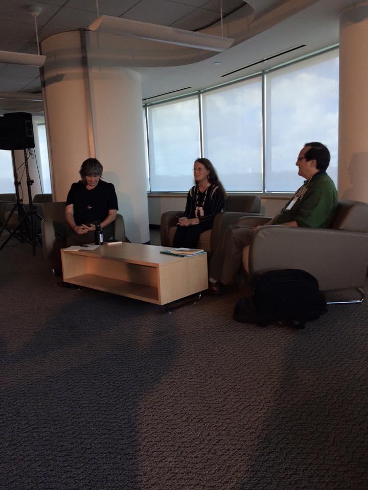 Yvette Nolan, Mary Blackstone, and Daniel David Moses                               Photos: SWG