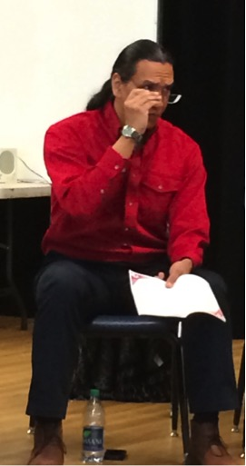 Michael Greyeyes, Moderator.   (All photos in this post by Annie Smith)