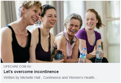 Physiotherapy is reported to be the best treatment for those who suffer from incontinence. Don't be shy, it affects one in five Australians.