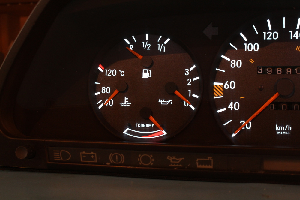 Final Photos - Fuel/Oil/Coolant/Economy Gauges