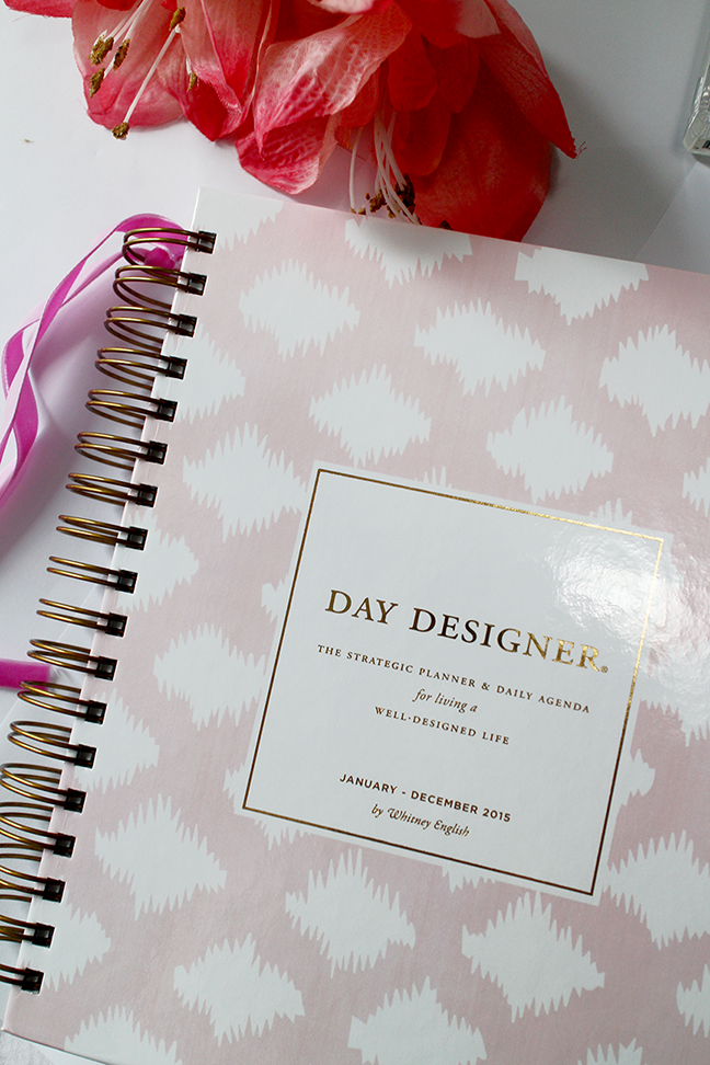 graphic relating to Whitney English Day Designer known as My 2015 Determination of Planner: The Working day Designer Champagne Needs