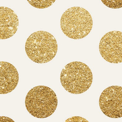 Jumbo Gold Glitter Polka Dot Backdrop