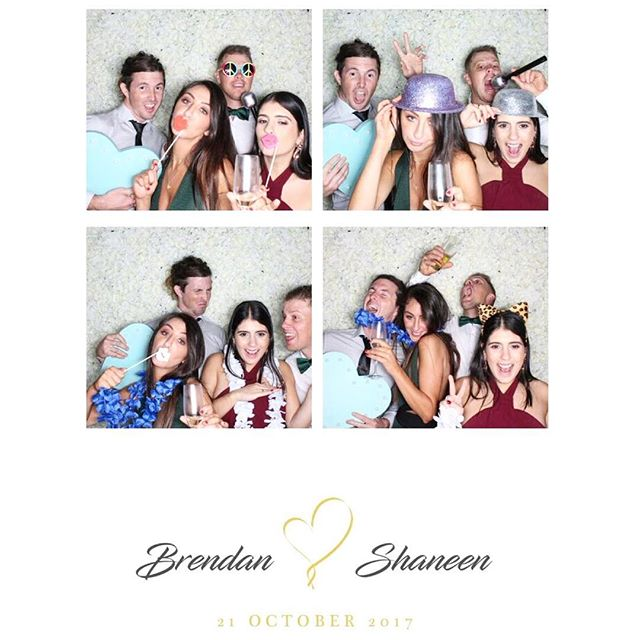 Brendan and Shaneen's Wedding ❤️ #containyourself #brisbanephotobooth #brisbaneflowerwall