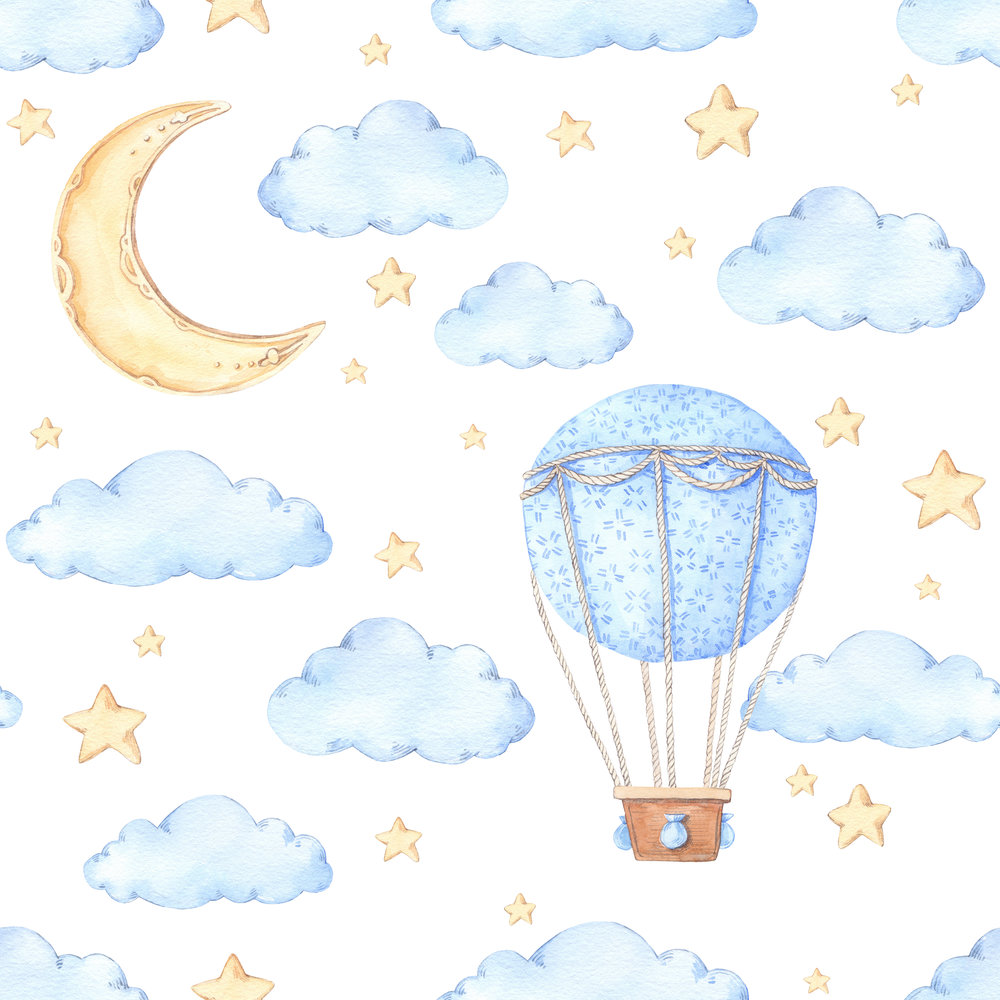 Hot Air Balloon Backdrop (Perfect for baby shower's, Christening's and children's birthdays)