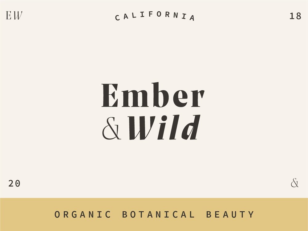Ember & Wild - Branding for a fictitious beauty line.