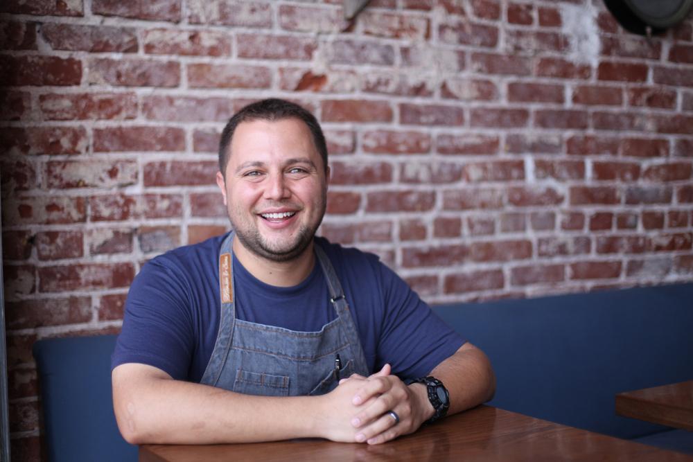 Chef Gio Bolivar of Dory Deli in Newport Beach, California