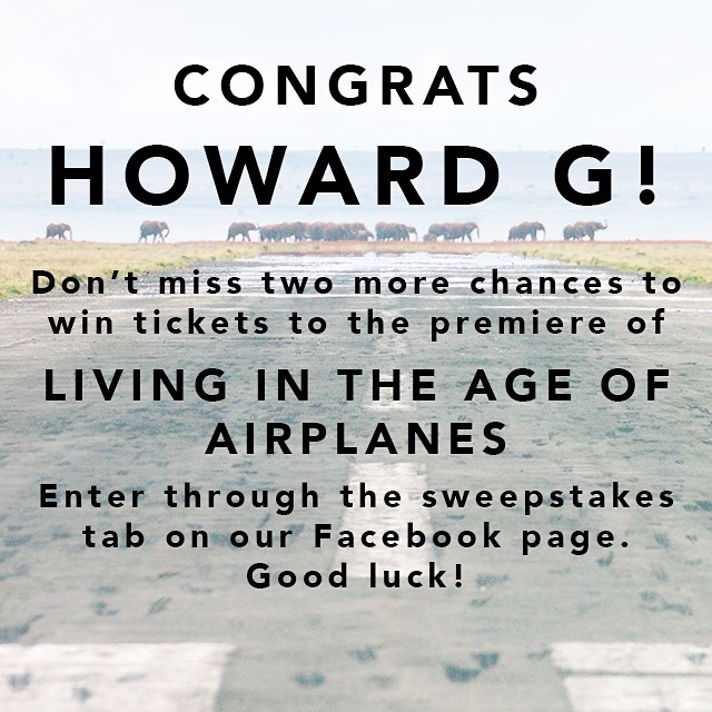 And we have a winner! Don't miss two more chances to win tickets to the premiere in DC with producer/director Brian Terwilliger and composer James Horner. #airplanesmovie