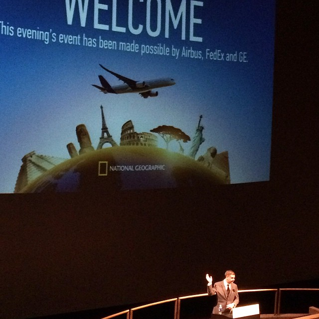 Producer/director Brian Terwilliger introducing the film during the world premiere at the Air and Space Museum in Washington, D.C. last night. The film opens TOMORROW in 14 cities! Check www.airplanesmovie.com to find a theater near you.