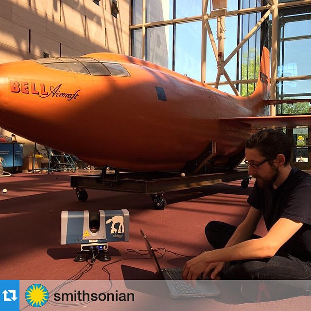 #Repost @smithsonian. While checking out the Bell X-1, catch 'Living in the Age of Airplanes' now playing at the Smithsonian Air and Space Museum!