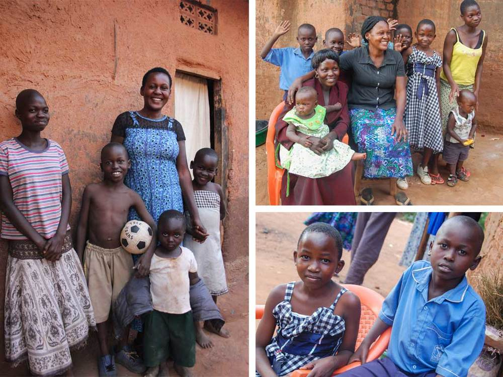 Sarah with her children in Namatala.