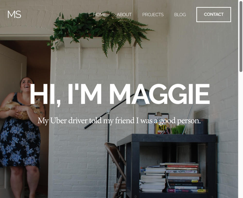 Work in progress: currently working with Maggie to create her online portfolio ( maggiestange.com ).