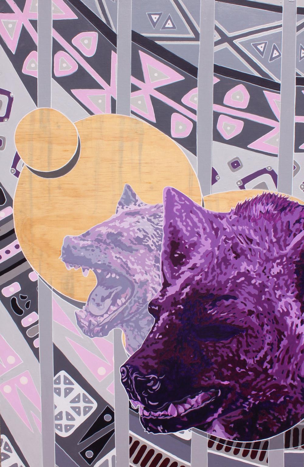 L.O.L  2.5' x 4'  Acrylic on Canvas  2015