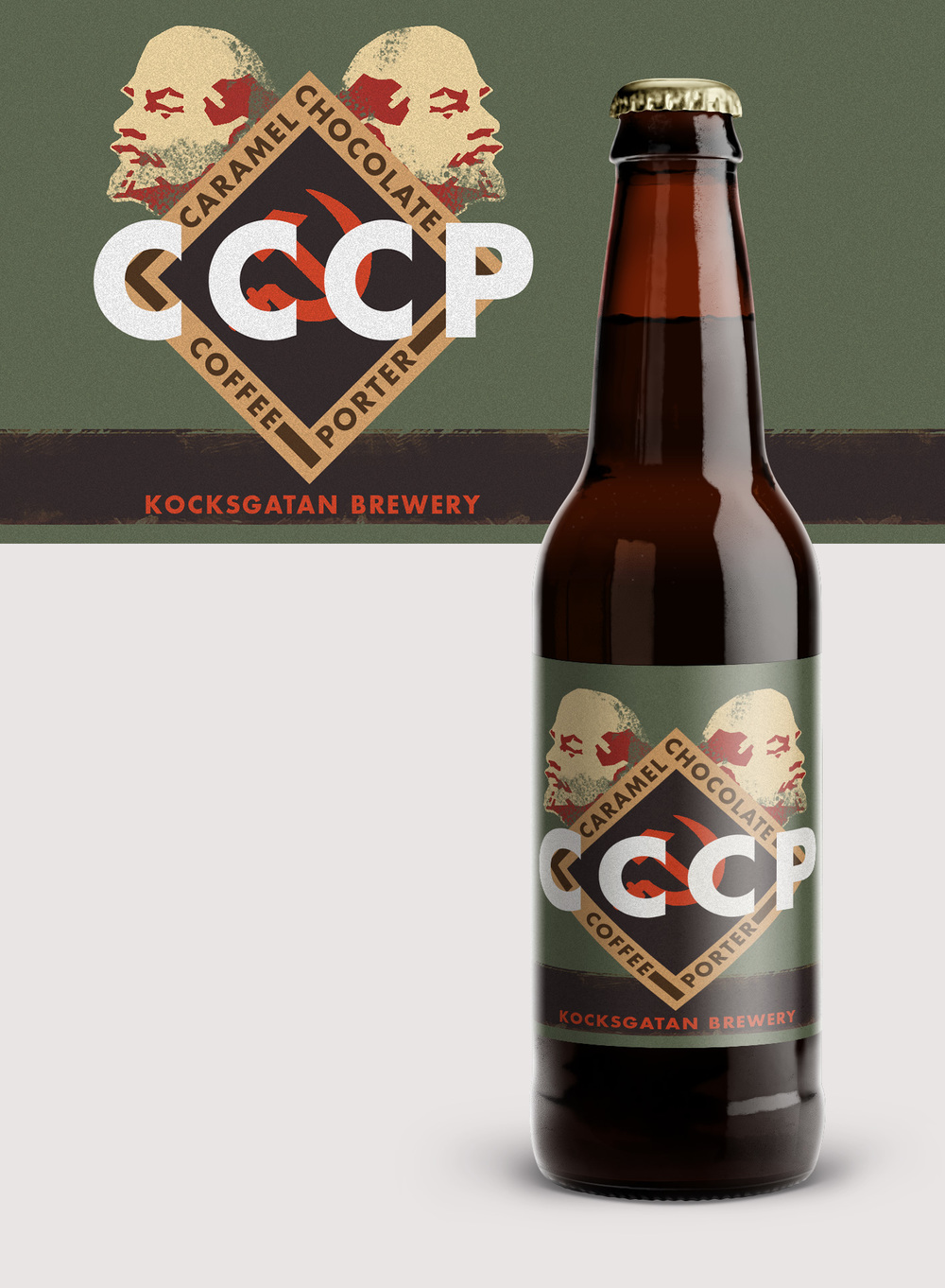 CCCP Beer Label