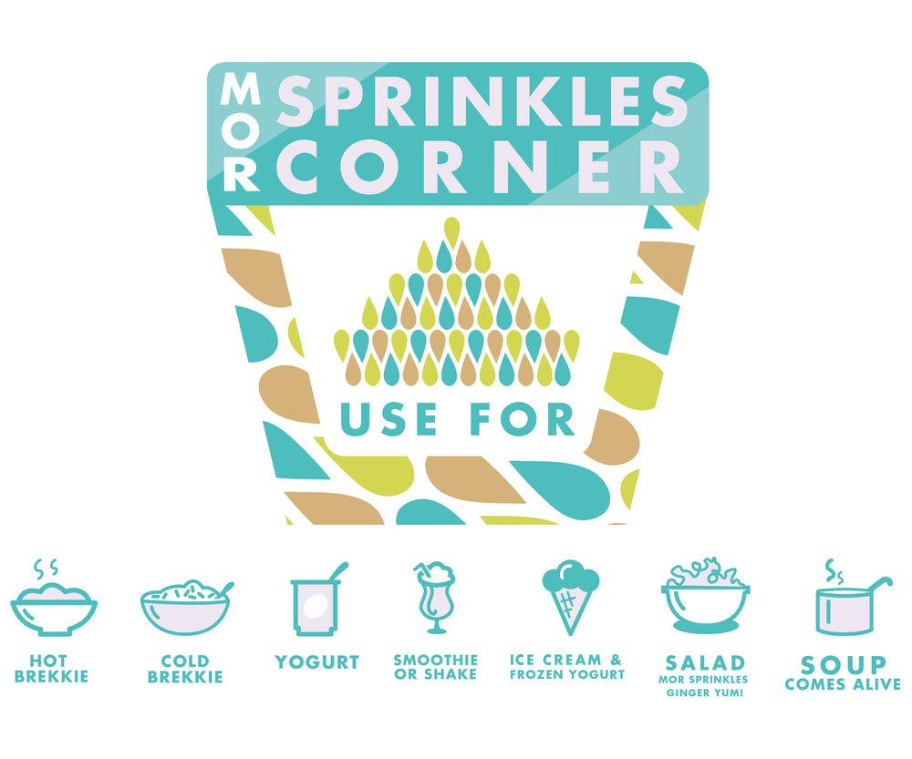 Mor Sprinkles Corner Icons and Logo