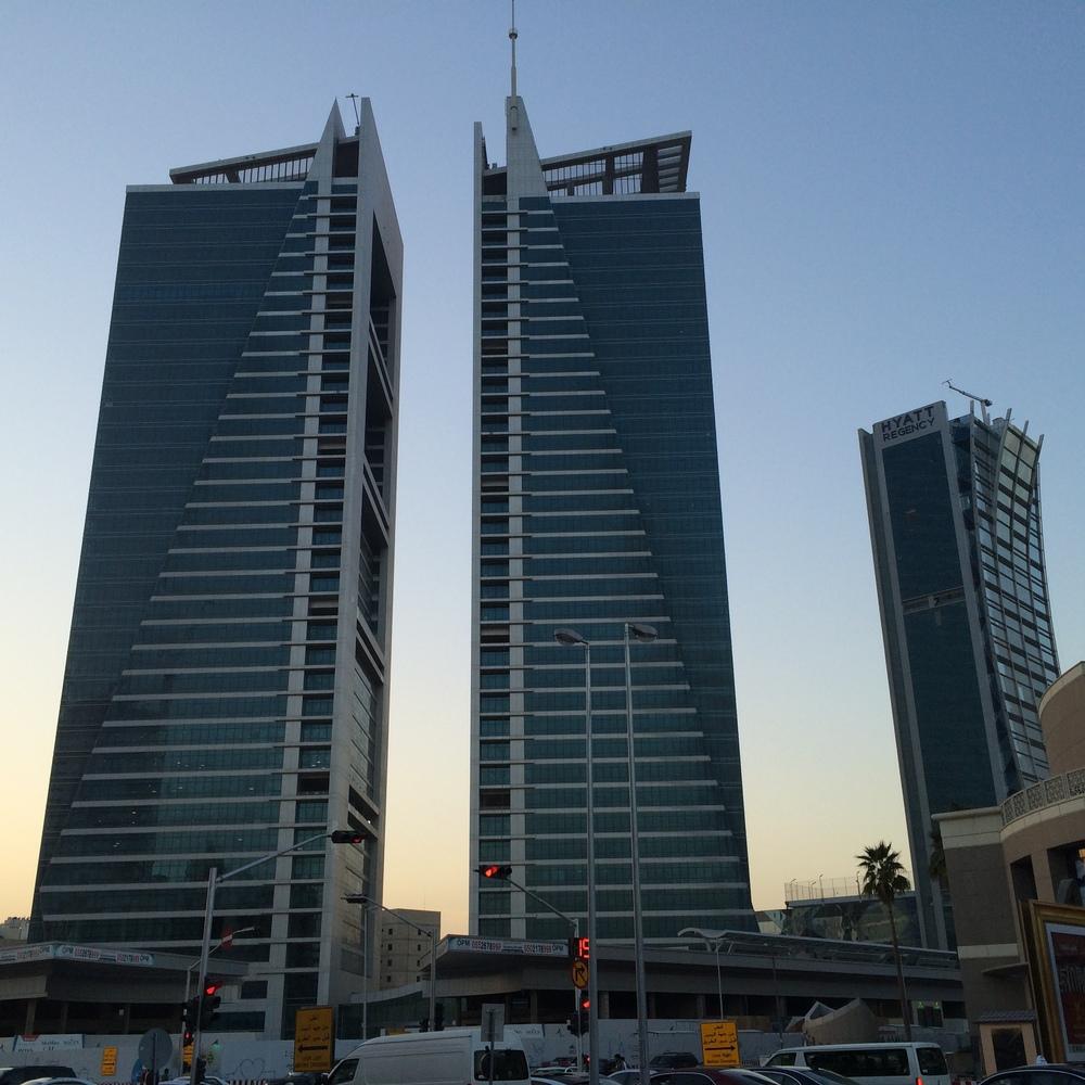 Wieżowce na ulicy Tahlia