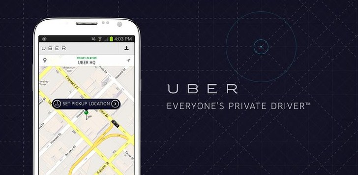 "Aplikacja UBER. ""Everyone's privat driver"" ;-)"
