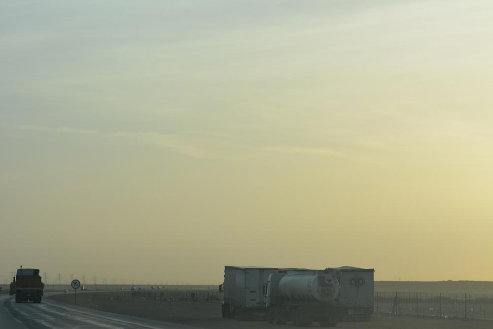 Wschód słońca. Jedynie za pierwszym razem udało nam się trafić na bezchmurne niebo podczas wschodu. Widok był piękny!