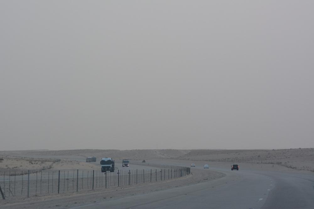 Tak wygląda saudyjska autostrada przy zachmurzonym wschodzie
