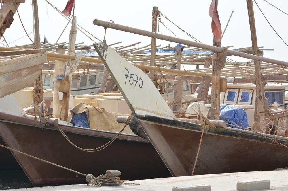 Łodzie rybackie w przystani