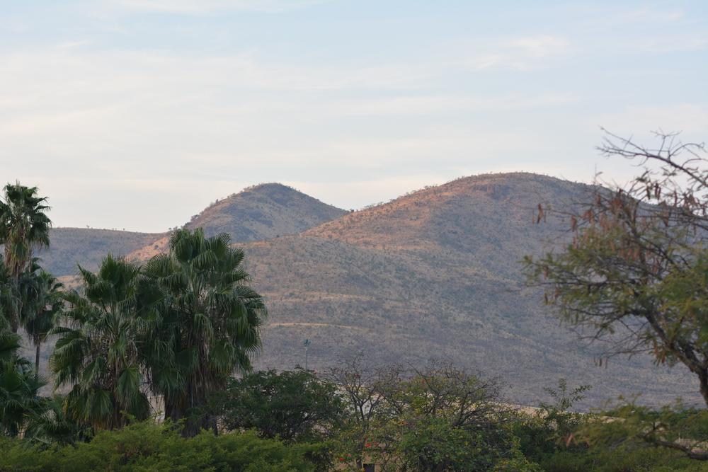 Widok z naszego tarasu.