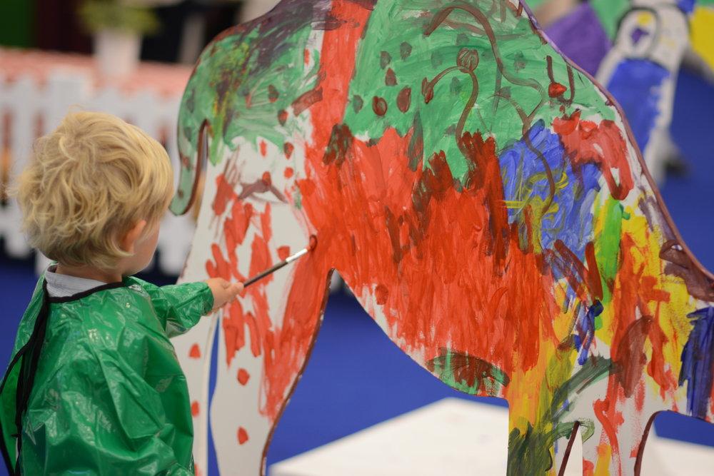 Malowany wielbłąd, zamiast malowanego lisa.