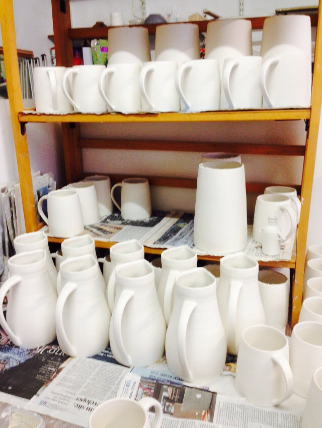 More slip cast ware