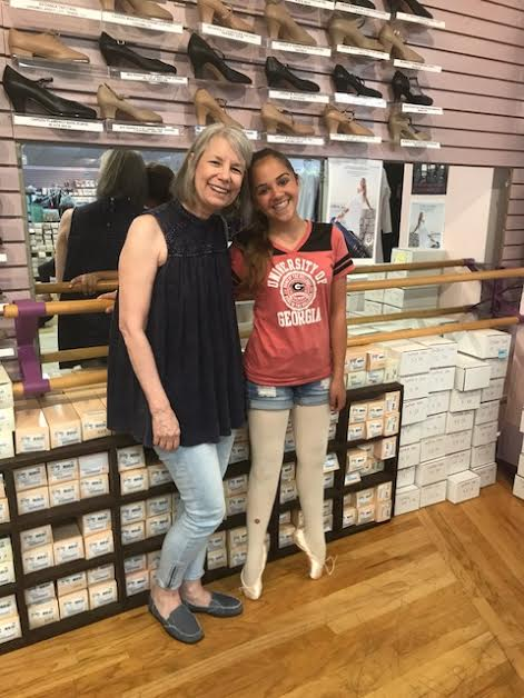 Mrs. Rogers takes each Still Pointe student for their very first pointe shoe fitting.