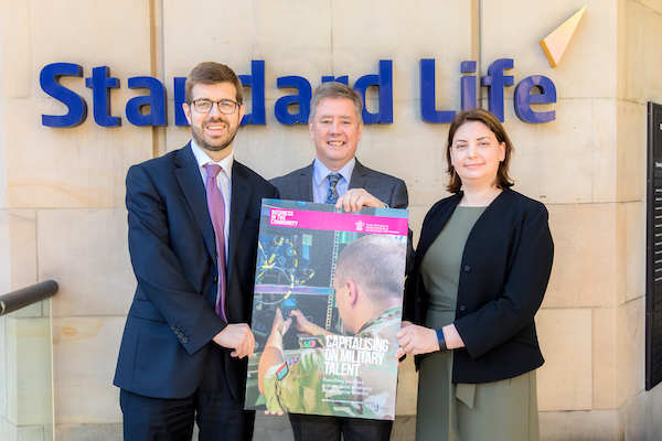 Keith Brown MSP launching the toolkit at Standard Life. CREDIT: Malcolm McCurrach - New Wave Images UK