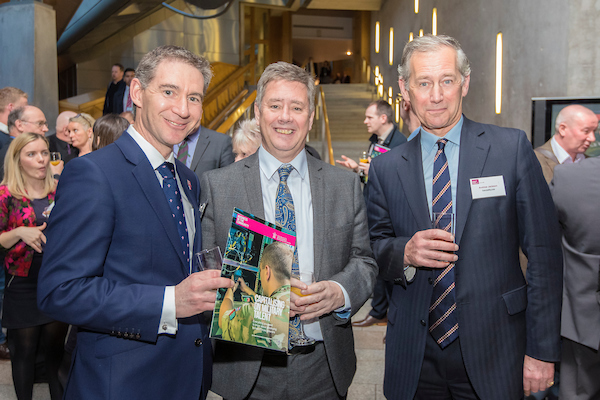 Managing Director, Andrew Jackson at the launch, with Keith Brown and Mark Bevan. CREDIT: Malcolm McCurrach - New Wave Images UK