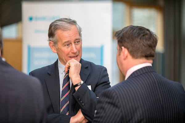 Andrew with Russell Edwards of Fujitsu. CREDIT: Malcolm McCurrach - New Wave Images UK