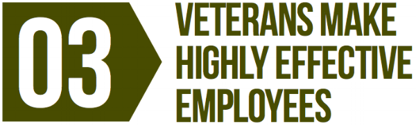 Veterans make highly effective employees