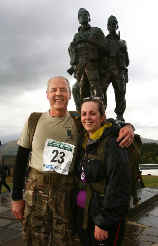 Becci taking part in one of her charity challenges.