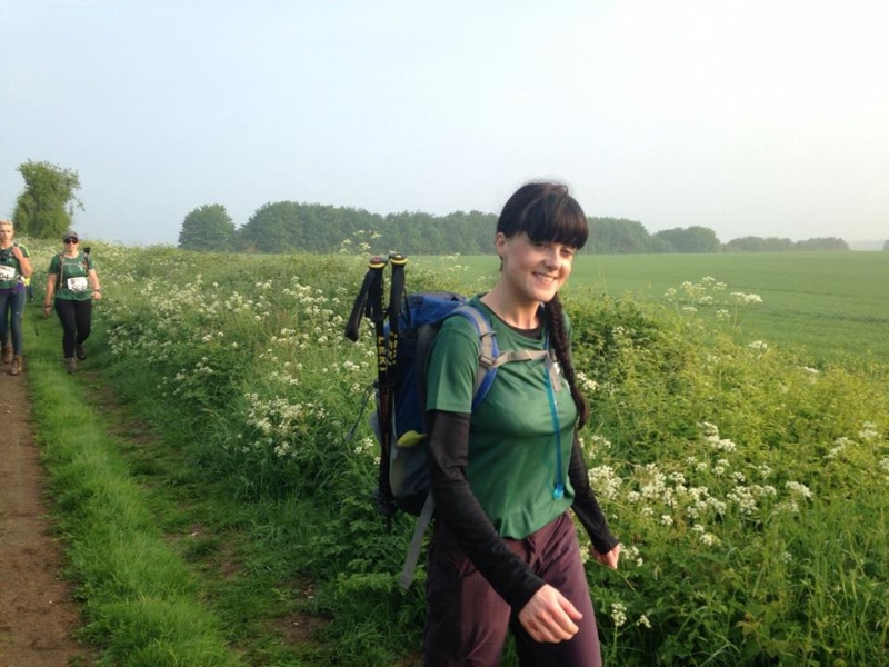 Faye taking part in the yomp.