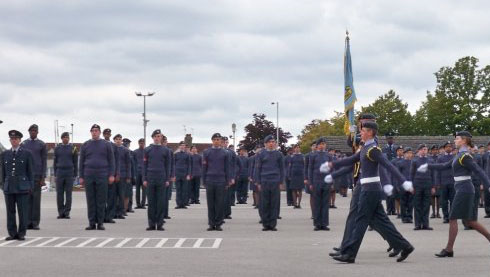 Air Cadets taking part in drill.