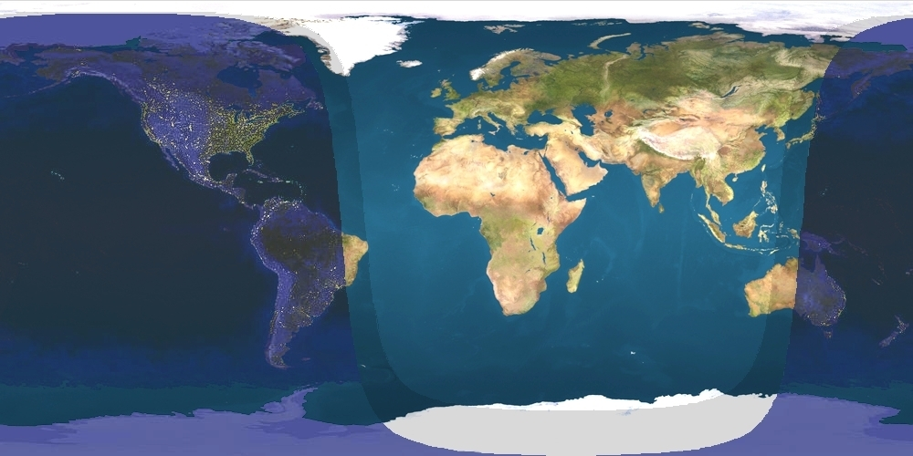 Map of daylight