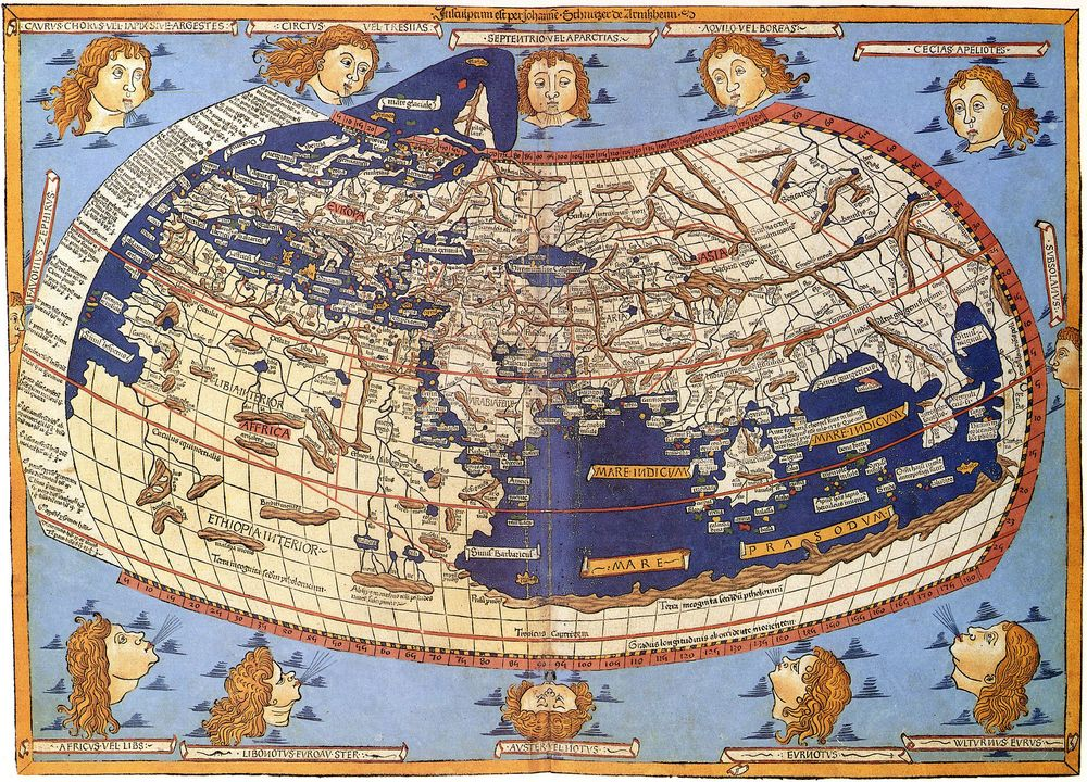 Ptolemaic world map