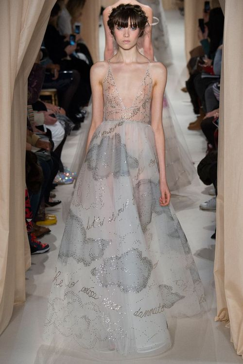Look 45 on Grace Hartzel at Spring 2015 Valentino Couture via  Style.com .