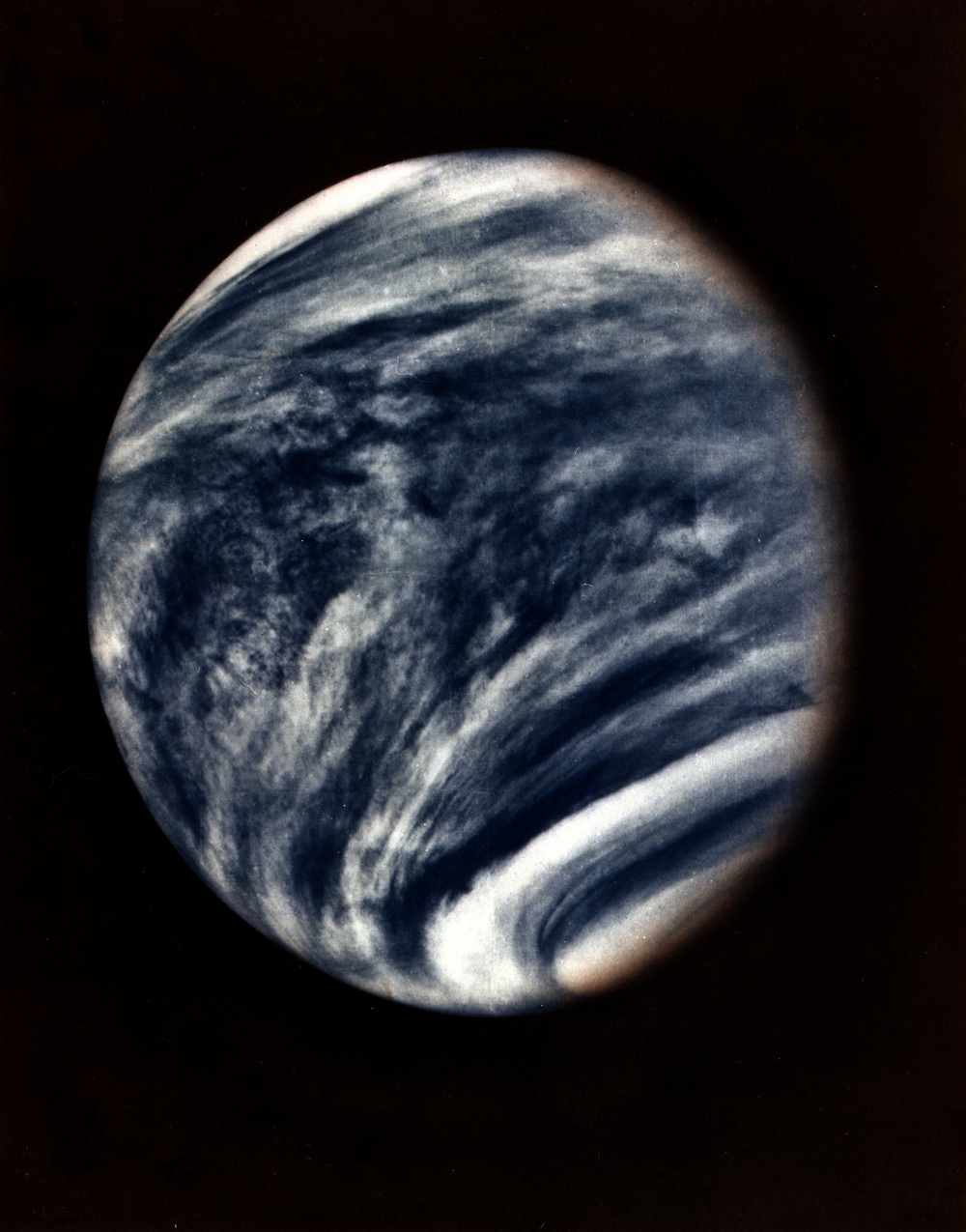 The first ever close-up of  Venus , taken by NASA's Mariner 10 in 1974.