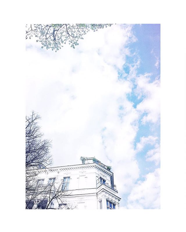 Uh oh, @squarespace is down at the moment! But here's looking up? 🌤🌳 #daydreaming #squarespacehelp #balkon #balcony #rooftop #berlin #spring #altbau #charlottenburg
