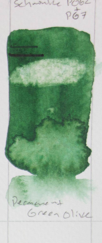 Schmincke Horadam - Permanent Green Olive PO62 + PG7